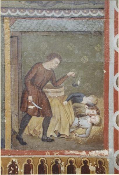 Peinture murale: légende de saint Nicolas, détail
