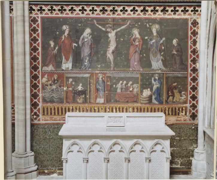 Peinture murale: Crucifixion (la), détail