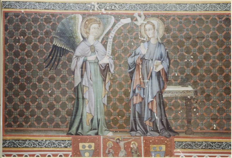 Peinture murale: Annonciation (l'), vue générale