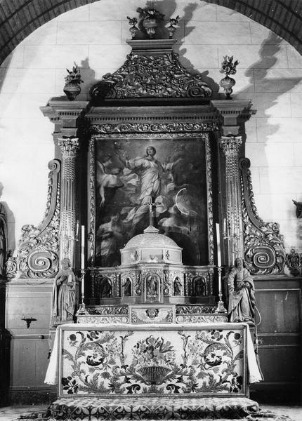autel (maître-autel), retable, devant d'autel, tabernacle et tableau : l'Assomption