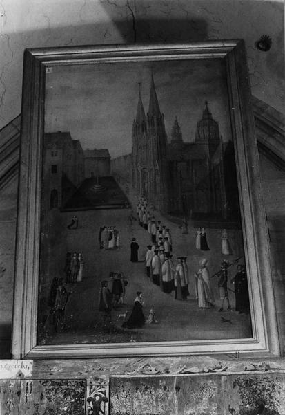 tableau : Procession, ou vue ancienne de Bayeux