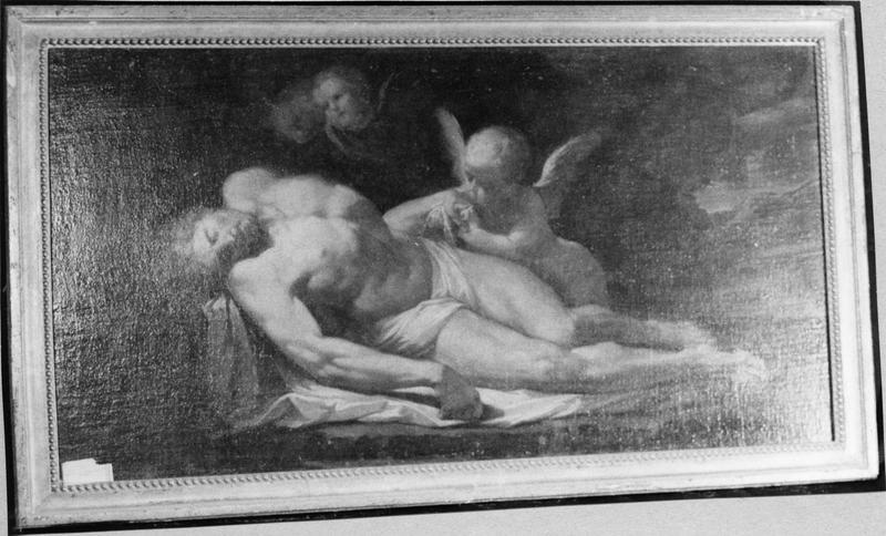 tableau : Christ mort entouré d'angelots
