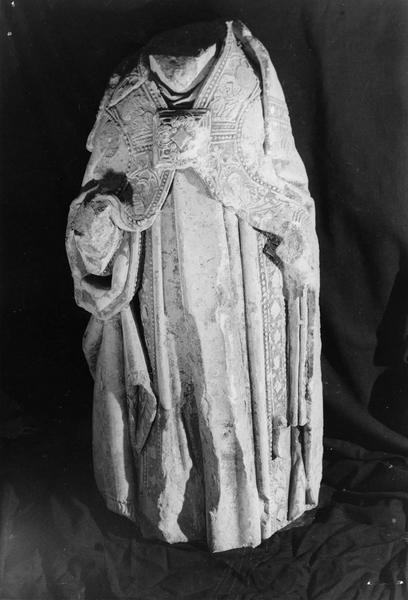 statue mutilée : saint Regnobert