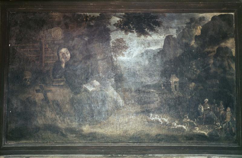 tableau : saint Gilles et la biche
