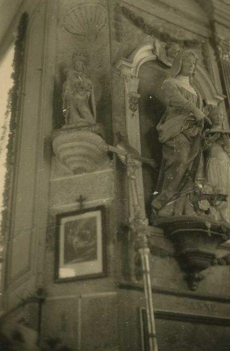 groupe sculpté : Sainte Anne et la Vierge, vue générale