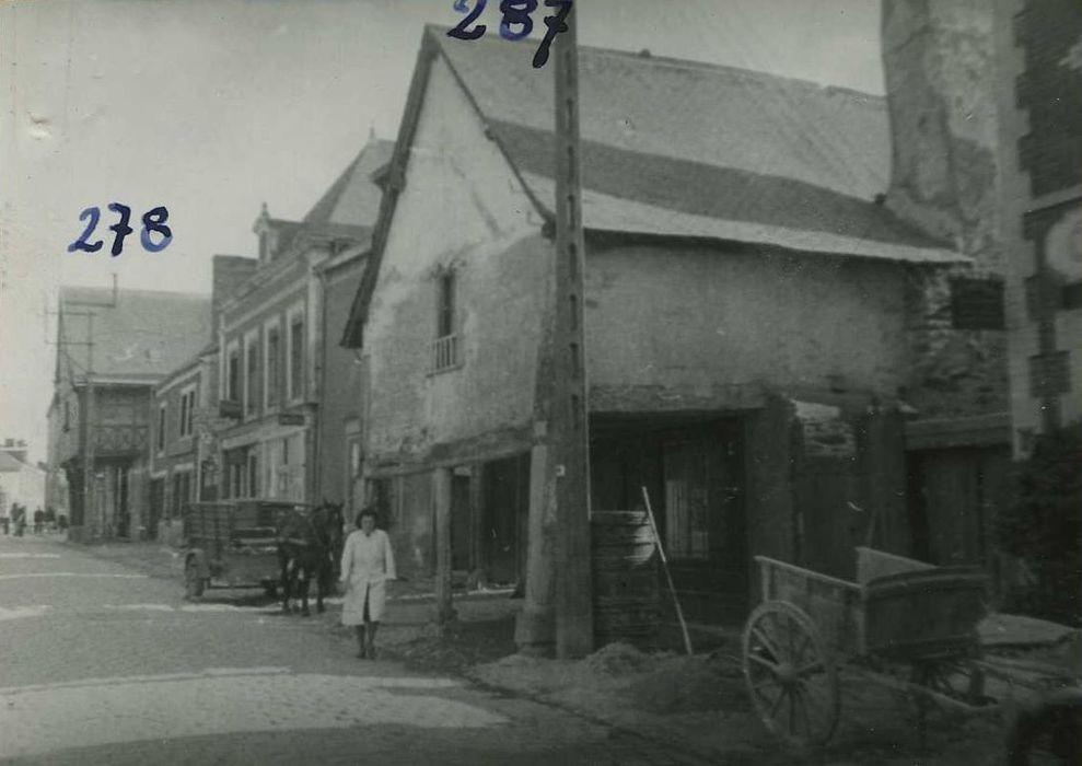 façades sur rue, vue générale