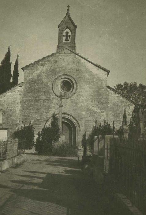 Chapelle du cimetière: Façade occidentale, vue générale