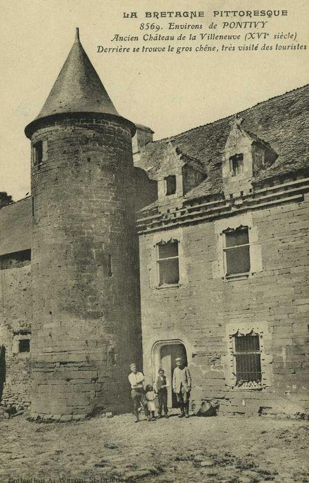 Ancien château de la Villeneuve, dit ferme du Gros Chêne: Façade sud-est, vue partielle