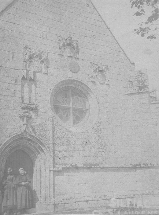 Chapelle Saint-Laurent: Façade occidentale, vue partielle