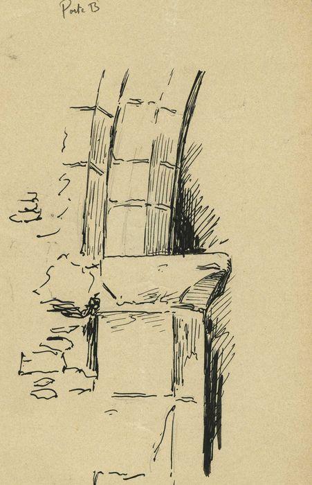 Ancienne cohue: détail de la porte B