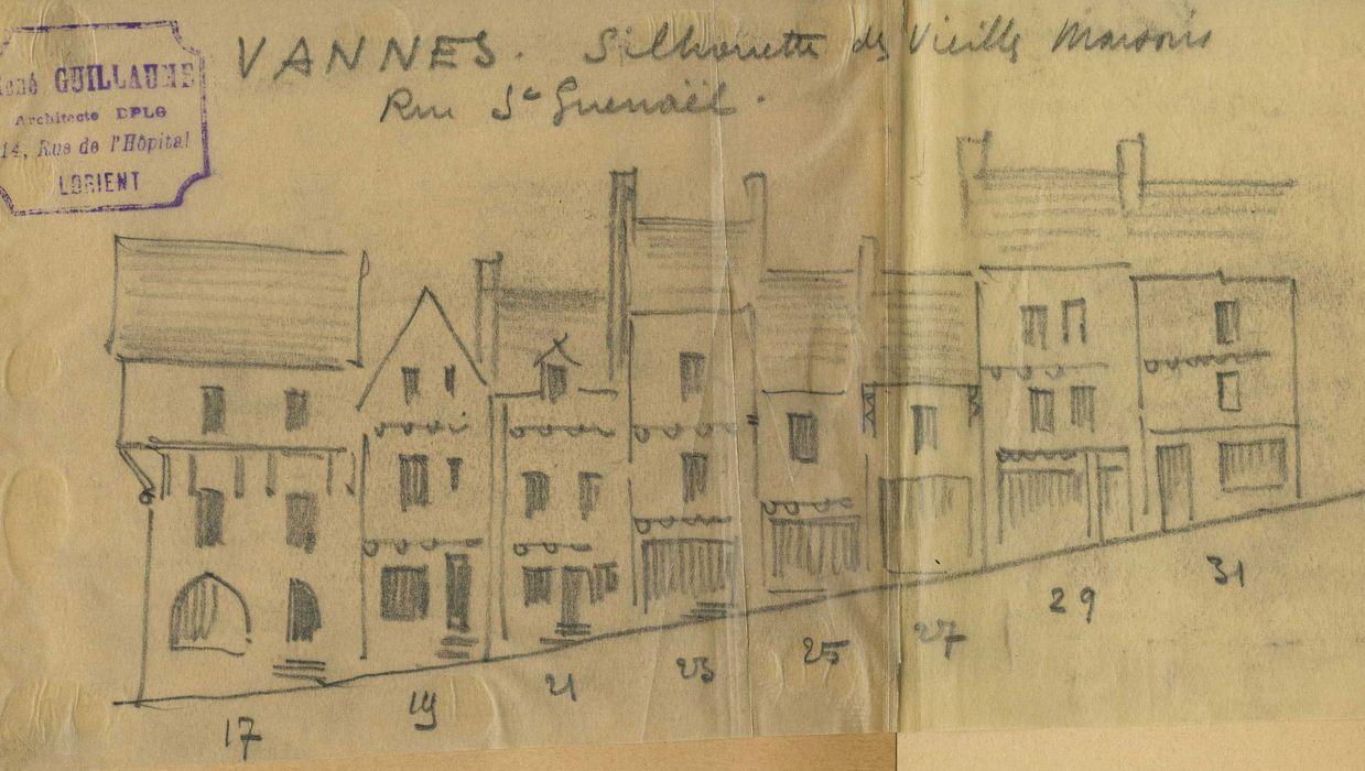 Maisons: Façades sur rue, vue générale