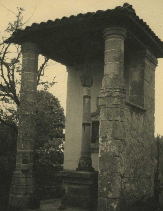 Oratoire et croix-calvaire de Boisset-Haut: Vue générale
