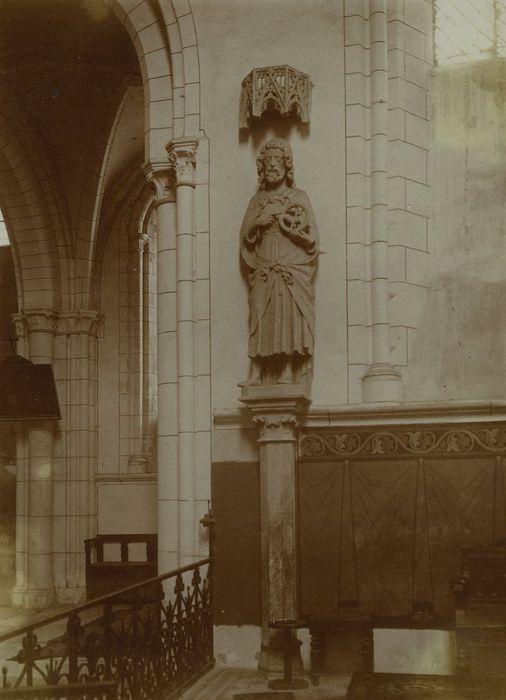 2 statues : Saint Jean-Baptiste, Saint Jean l'Evangéliste