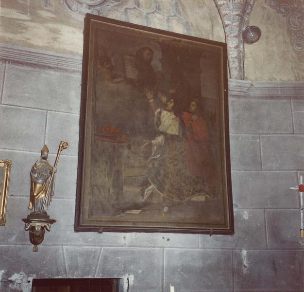tableau : saint François-d'Assise remettant la règle du tiers ordre à saint Louis et à sainte Elisabeth de Hongrie