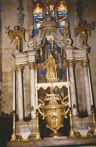 autel, tabernacle, dais d'autel (maître-autel, baldaquin, table d'autel)