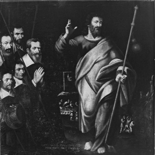 Tableau : saint Jacques et six donateurs