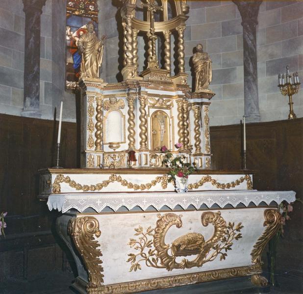 autel, tabernacle (maître-autel), détail
