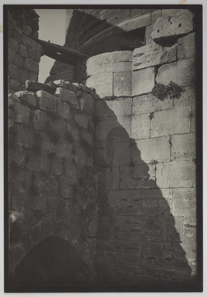 Vue du mur attenant à la rampe