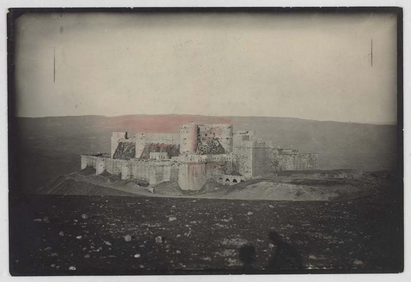 Reproduction d'une photographie du front sud-ouest, avant restauration