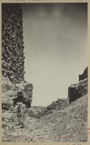 Fossé séparant le château de la ville: vue vers l'ouest