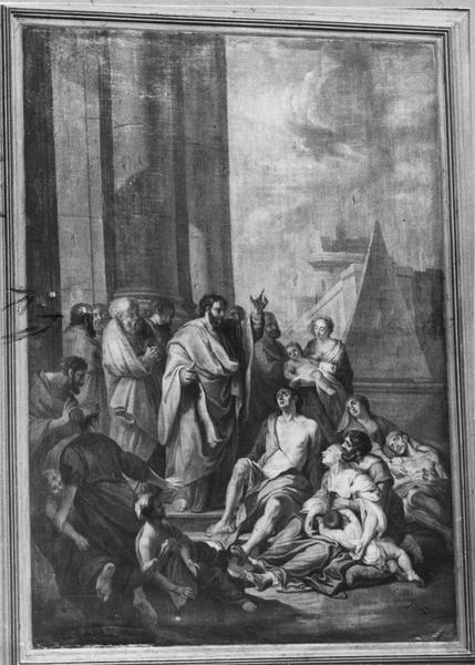Tableau : saint Pierre guérissant les malades