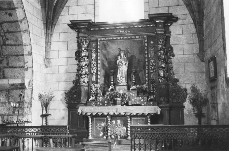 retable de la Vierge et tableau de la Donation du Rosaire