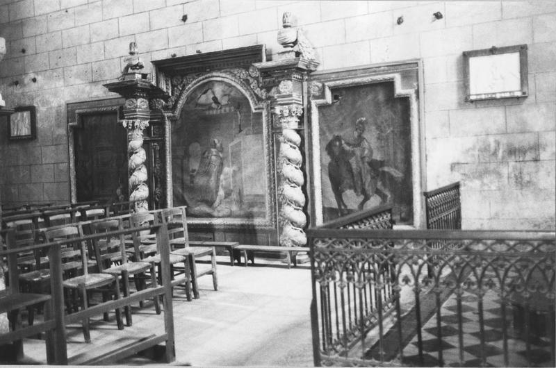 retable de saint Martin et ses trois toiles