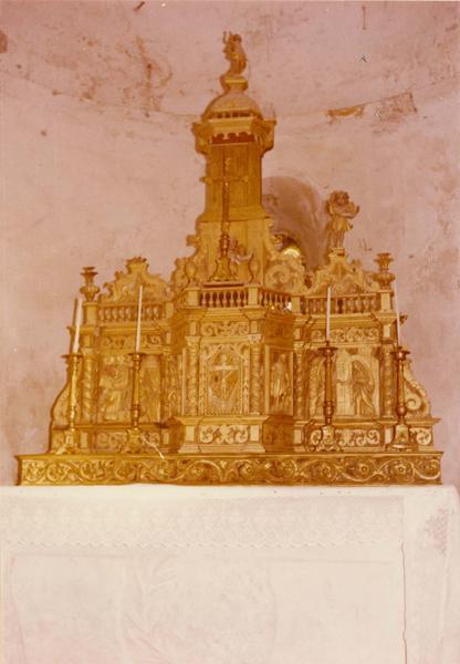 tabernacle, gradin (tabernacle à exposition), du maître-autel