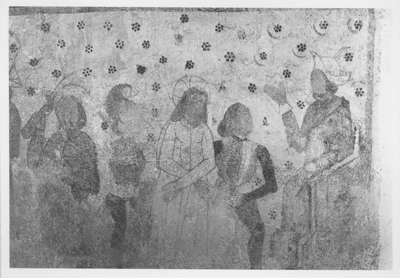 peinture monumentale, détail: le Christ devant Pilate