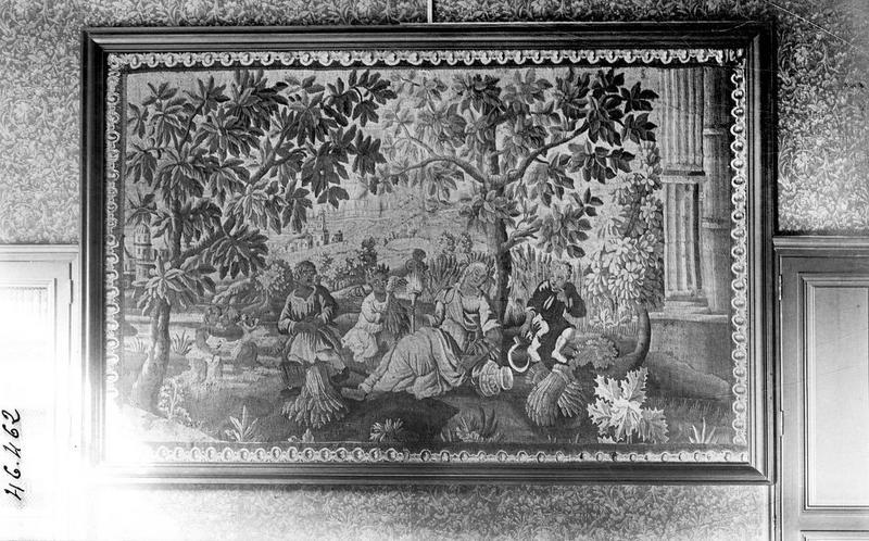 pièce murale : le repos après la moisson, vue générale