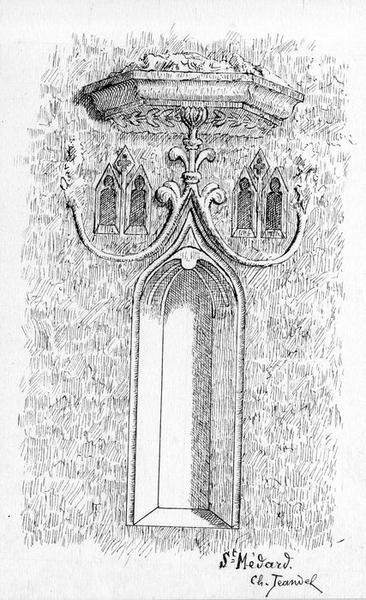 lavabo en niche, style gothique