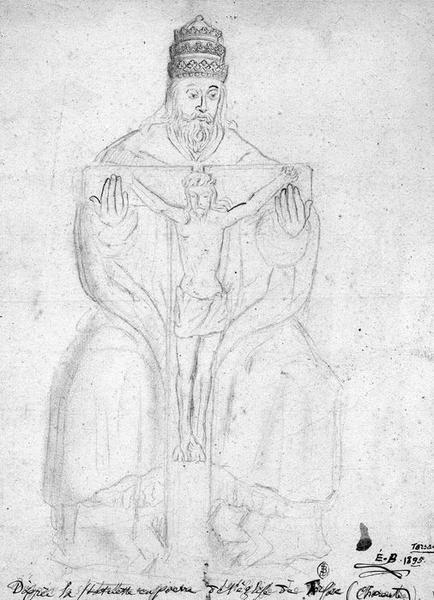groupe sculpté (statuette) : la Trinité