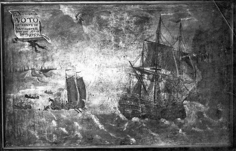 tableau ex-voto : Navire baptisé le comte de Ponchartrain