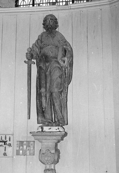 2 statues (grandeur nature) : saint Pierre, saint Paul
