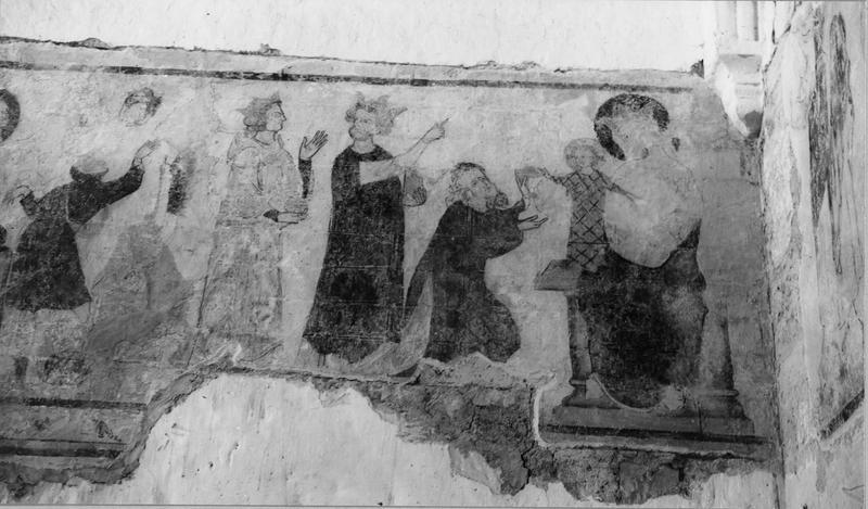 peinture monumentale : Visitation, Nativité, Annonce aux bergers, Adoration des Mages, Crucifixion