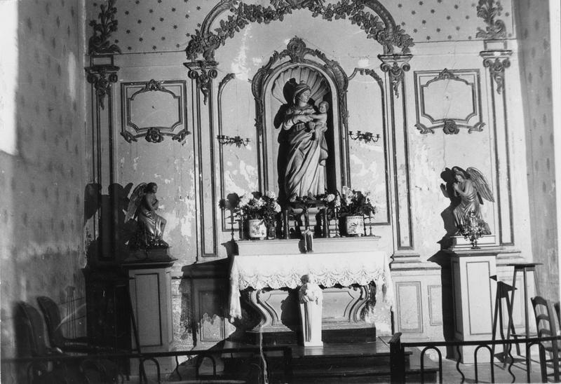 3 statues : Vierge à l'Enfant, deux anges adorateurs