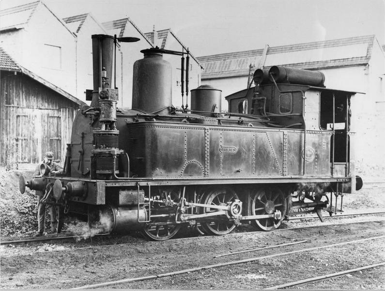 locomotive à vapeur, à voie normale, dite Le Progrès, 42 030 T 3, vue d'ensemble