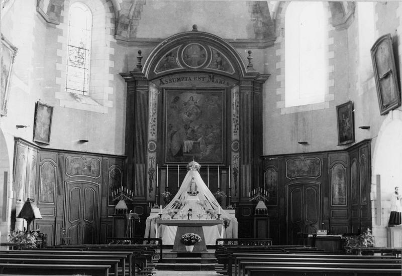 retable, lambris de revêtement, peintures, du maître-autel