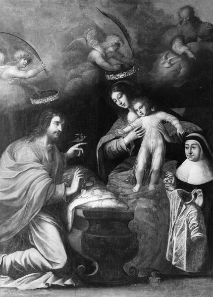 Tableau : la Sainte Famille avec la donatrice Françoise de Foix