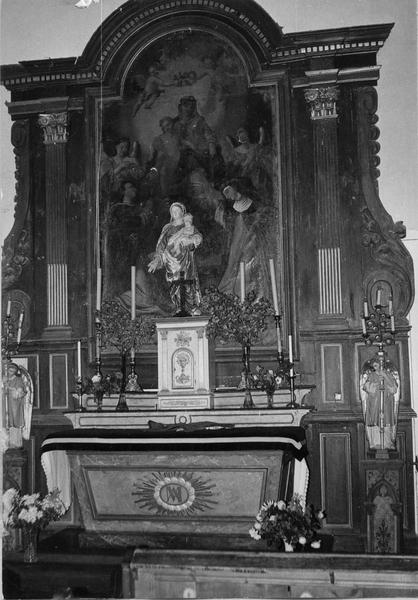 autel, gradins, tabernacle, retable (autel secondaire du Rosaire)