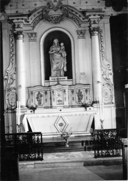 autel, tabernacle, retable (autel secondaire)