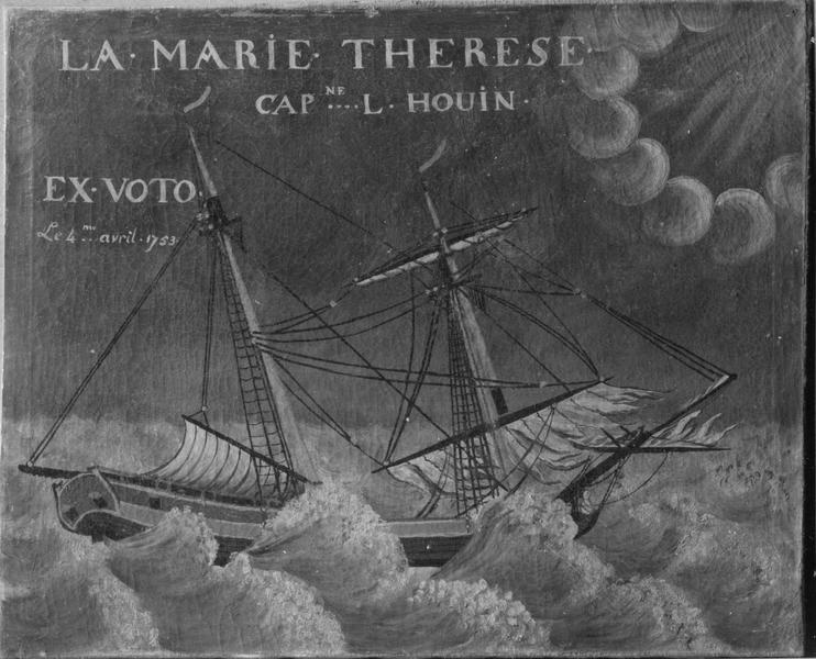 Ex-voto, tableau : navire, dit la Marie Thérèse