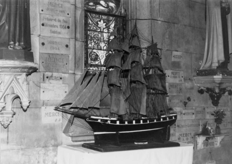 Ex-voto, maquette, voilier