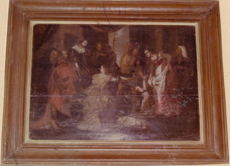 tableau : le Jugement de Salomon