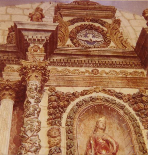 retable du maître-autel, deux statues : saint Pierre, saint Paul, détail
