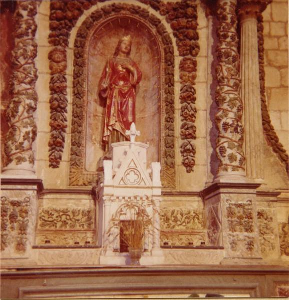 retable du maître-autel, 2 statues : saint Pierre, saint Paul