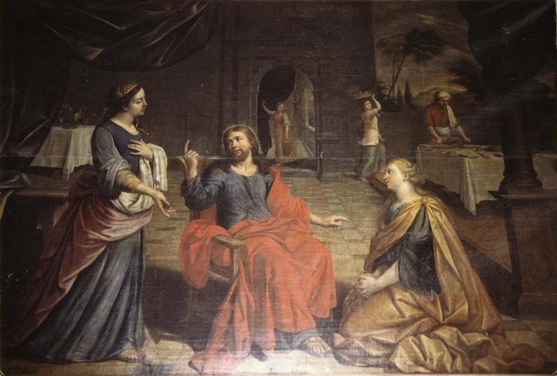 tableau : le Repas de Jésus chez Marthe et Marie