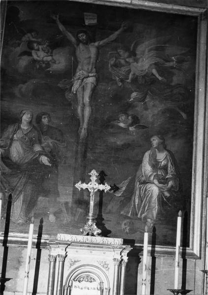 Tableau : la Crucifixion avec la Vierge saint Jean et sainte Marie-Madeleine