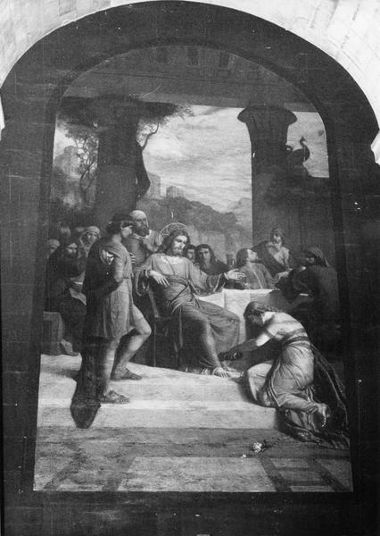 tableau : Marie Madeleine lave les pieds du Christ