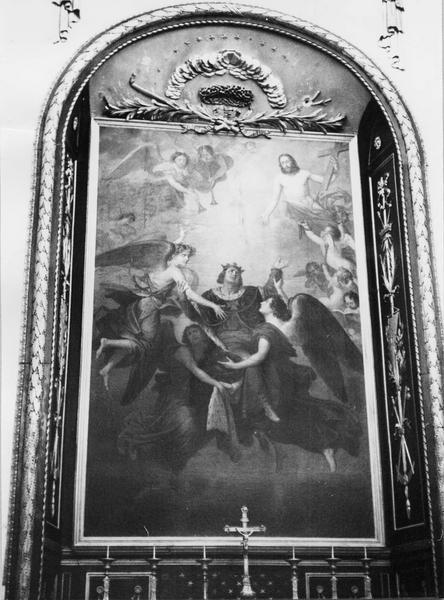 tableau : l'Apothéose de saint Louis
